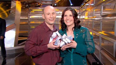 David et Véronique les grands gagnants de Money Drop du 27 avril 2015  sont aux anges