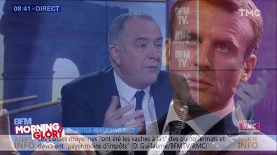 """Morning Glory : Emmanuel Macron """"le plus haut d'entre nous"""" encensé comme jamais"""