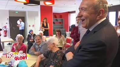 Morning Glory - Gérard Collomb dans une maison de retraite : qui rend visite à qui ?