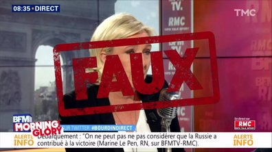 Morning Glory : les grosses fake news de Marine Le Pen sur Donald Trump