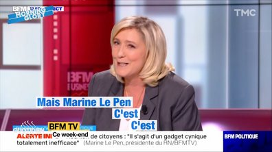 Morning Glory: Marine Le Pen ingérable sur BFMTV