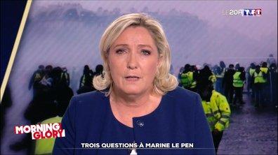 Morning Glory : Marine Le Pen a eu une conversation très intéressante avec... elle-même
