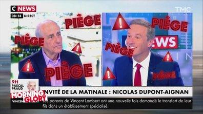 Morning Glory : Nicolas Dupont-Aignan tombe dans le piège de Jean-Pierre Elkabbach