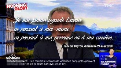 Morning Glory : on n'aurait pas osé, François Bayrou l'a fait