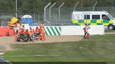 MotoGP - Silverstone 2013 : Warm-up mouvementé pour Marquez