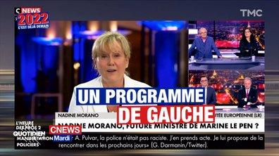 """Nadine Morano juge le programme de Marine Le Pen """"trop à gauche"""""""