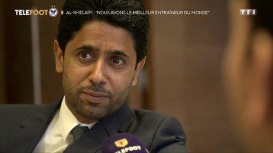 """[EXCLU Téléfoot – 16/09] - PSG / Al-Khelaïfi fait l'éloge de Tuchel : """"Il est le meilleur entraîneur au monde"""""""