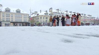 Neige dans l'Oise : les habitants en profitent avant le couvre-feu