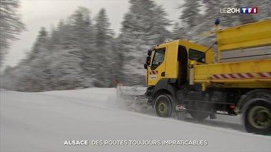 Neige : des routes toujours impraticables en Alsace