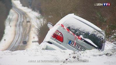 Neige : le quotidien des Bretons bouleversé