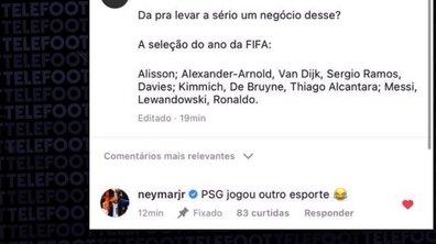 VIDEO - Neymar trolle le 11 de l'année de la FIFA