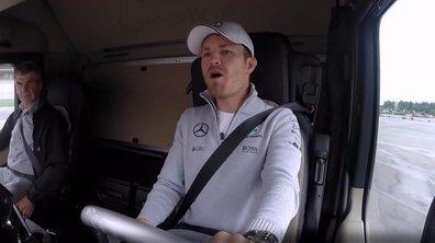 Insolite - F1: Rosberg, Hülkenberg et Wehrlein jouent les camionneurs