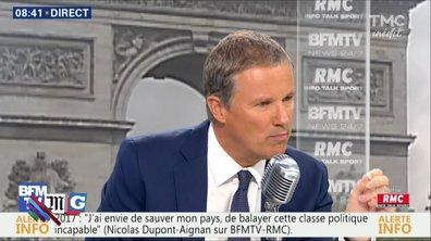 Morning Glory : Nicolas Dupont-Aignan, le seul politique à prendre ses responsabilités ?