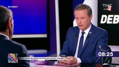Nicolas Dupont-Aignan n'a rien laissé au hasard sur les SMS du Figaro