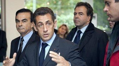 Sarkozy au Mondial de l'auto défend les voitures propres