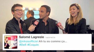 The Voice : Nikos Aliagas lance un défi coquin aux V-Reporters !