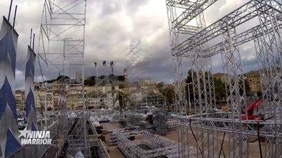 Le time-lapse de la construction du parcours - Ninja Warrior 2