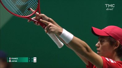 Coupe Davis : la balle de match de Nishioka face à Monfils en vidéo