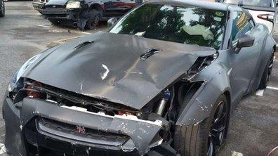 A 18 ans il crashe sa Nissan GT-R en pleine rue