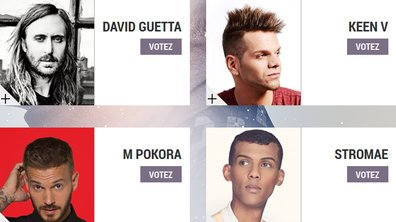 """David Guetta, Keen'V, M Pokora, Stromae : Ils sont nommés dans la catégorie """"Artiste Masculin Francophone de l'année"""" aux NRJ Music Awards 2014"""