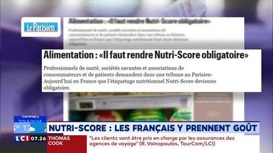 Notre santé : Nutri-Score, les Français y prennent goût