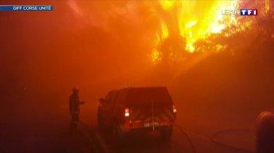 Nuit de vents et d'incendies en Haute-Corse