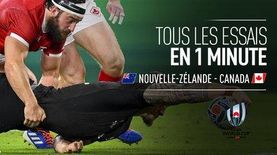 Nouvelle-Zélande - Canada (63 - 0) : Voir les 8 essais Néo-Zélandais en 1 minute