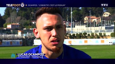 """[EXCLU Téléfoot 3/03] – Ocampos : """"L'objectif de l'OM, c'est de jouer la Ligue des champions"""""""