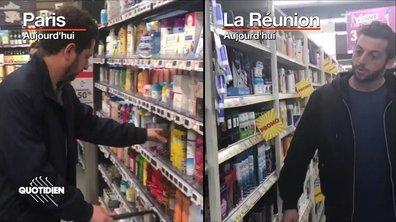 On a fait les mêmes courses à Paris et à la Réunion et ça ne coûte pas DU TOUT la même chose