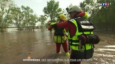 Orages dans le Gard : des secouristes sur tous les fronts