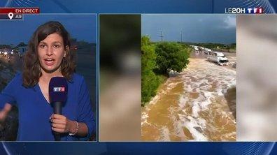 Orages dans le Gard : en direct de l'autoroute A9 inondée
