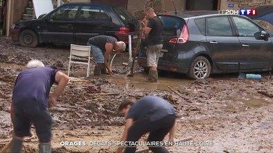 Orages : dégâts spectaculaires en Haute-Loire