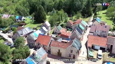 Orages : des habitations et des champs de l'Aisne ravagés par la grêle