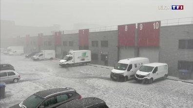 Orages : une impressionnante pluie de grêlons à Lyon