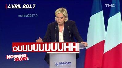 Oui, Marine Le Pen a déjà fait siffler des journalistes