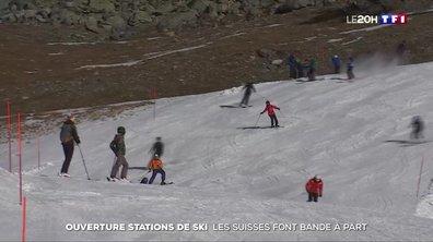 Ouverture des stations de ski : les Suisses font bande à part