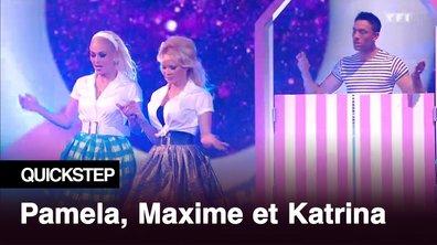 Pamela Anderson, Maxime Dereymez et Katrina Patchett  | Moi je joue | Quickstep
