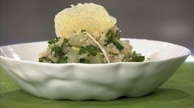Taboulé de quinoa au pamplemousse jaune