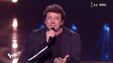 Patrick Bruel « Pas eu le temps » en direct pour la finale de The Voice 2019
