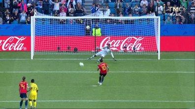 Espagne - Afrique du Sud (1 - 1) : Voir le but sur penalty de Hermoso en vidéo