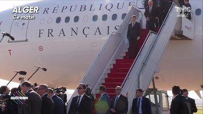Pendant ce temps... Macron est arrivé en Algérie...