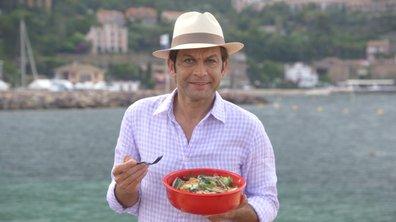 Maquereaux et groseilles à maquereau, salade de concombre