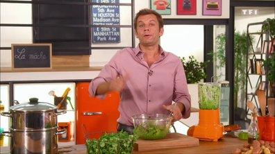 Salade de pommes grenailles à la mâche