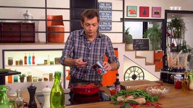 Ragoût de légumes aux haricots rouges aux épicées végétarien