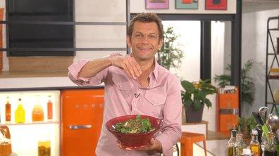 Salade d'épinards à l'épeautre grillé et au roquefort