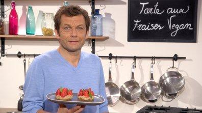 Tarte aux fraises vegan et sans cuisson