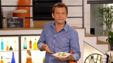 Roulés de volaille à la verveine citronnelle et petits pois frais à l'huile d'olive