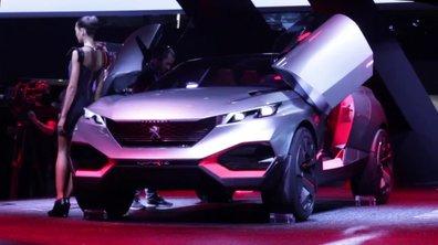Peugeot Quartz Concept, le crossover hors du commun - Mondial de l'Automobile 2014