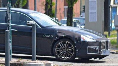 Scoop : Le futur restylage de la Maserati Quattroporte 2017 surpris sur la route