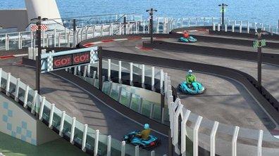 Insolite : une piste de karting sur un bateau de croisière !